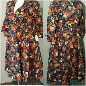 Lindy Bop Floral Dress NWT